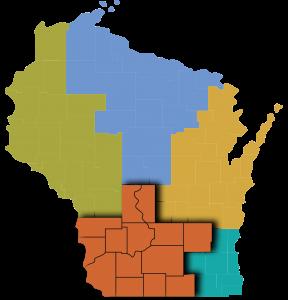 wisconsin southern region map